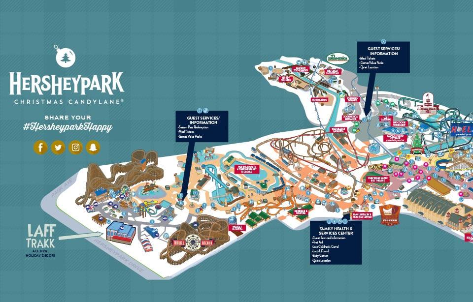 Hershey Park Winter map