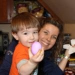 Karen Marie Chase with son