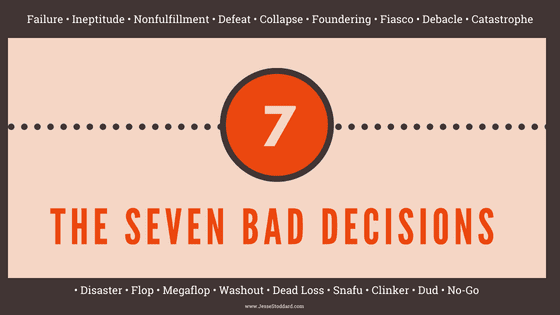 The Seven BAD Decisions blog cover